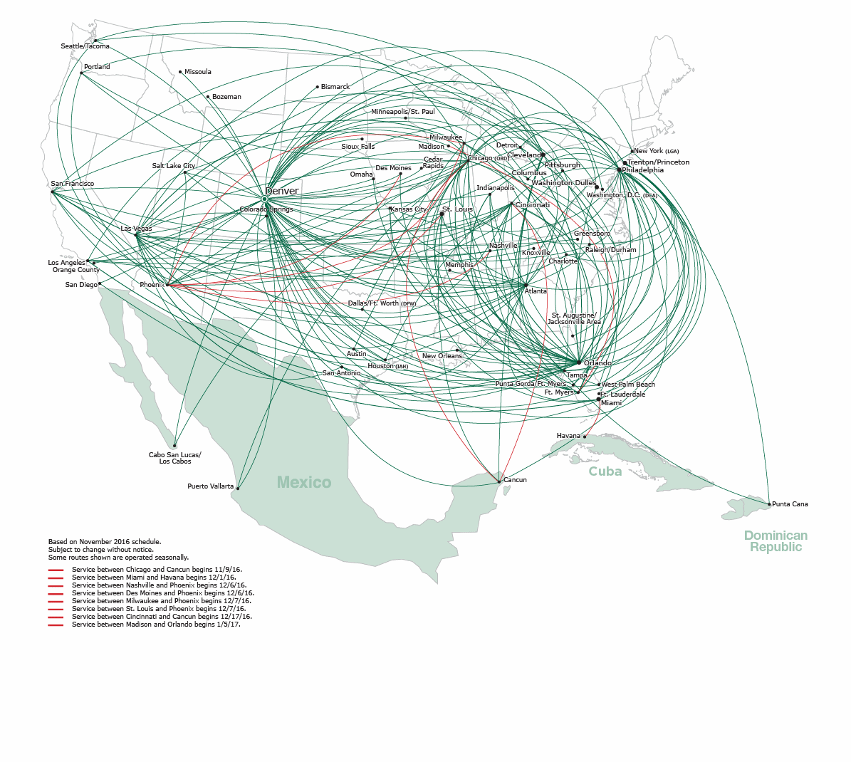 Frontier Route Map